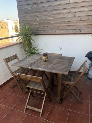Segunda De Para Jardín Barcelona Mano Mn08vnw Mesa En Wallapop Plegable mwv80ONn