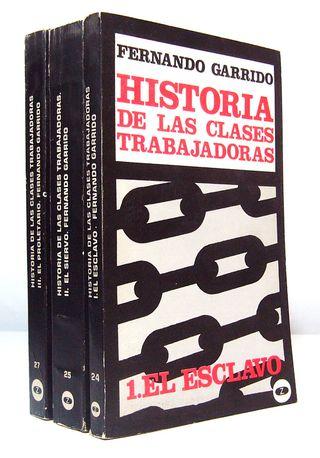 Libro Historia de las clases trabajadoras, 3 vols.
