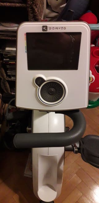 Bicicleta estática con respaldo y pulsómetro