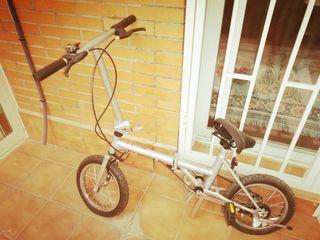 Bicicleta plegable con bolsa/funda