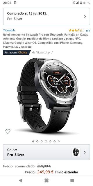 Reloj inteligente TicWatch Pro ¡Nuevo!
