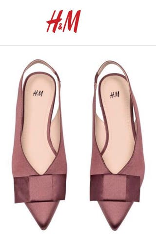 H&M Flat Satin slingbacks