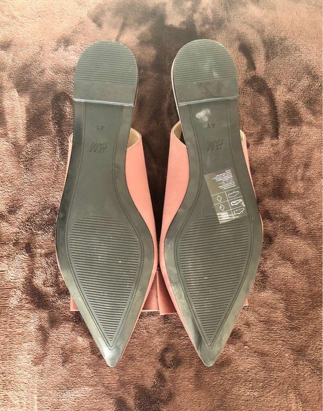 H&M Flat Satin slingbacks