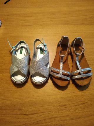 Sandalias de niña talla 28
