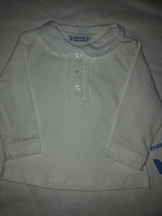Camisa mayoral nueva bebé niña 6 meses
