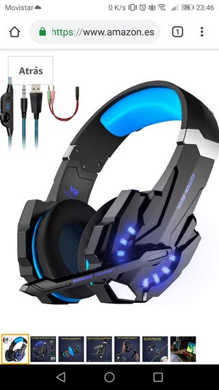 Auriculares Gaming PS4, PC, tablet.