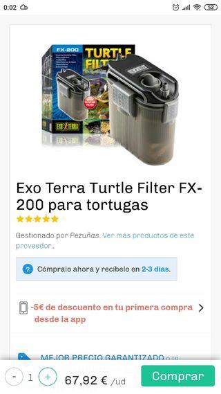 Filtro turtle Filter FX- 200