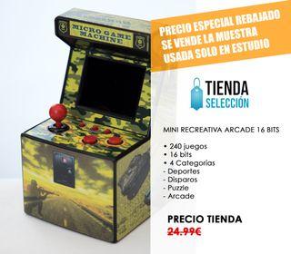 MUESTRA Consola mini arcade amarilla - videojuego
