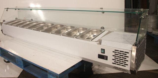 Vitrina refrigerada ingredientes 180x33x43 cm
