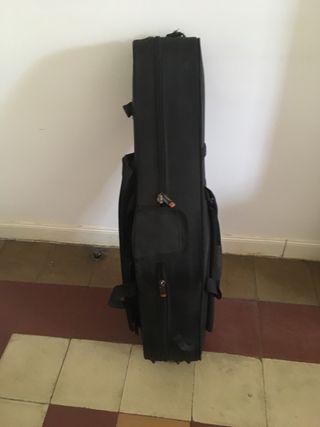 Funda dura para saxo tenor y flauta
