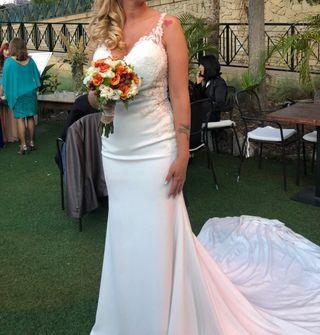 Vestido de novia de sedka