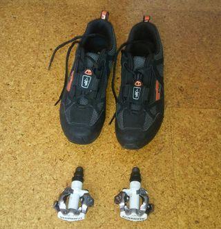 Pedales automaticos+zapatillas