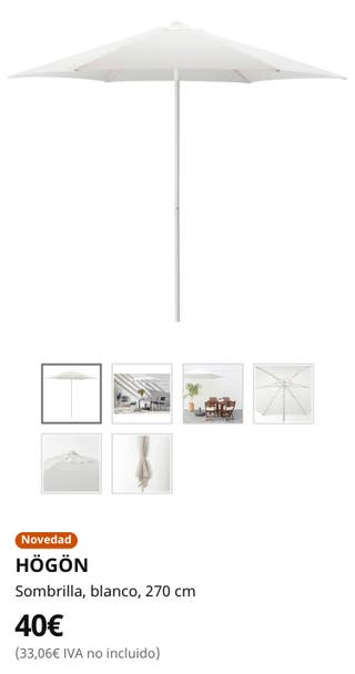 Sombrilla para jardín de Ikea
