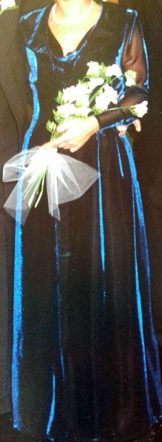Vestido y abriguito de lurex boda civil