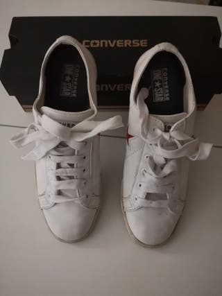 converse blanca 35