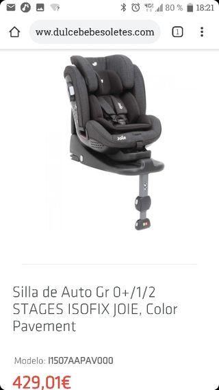 silla de coche bebe grupo 0+,1,de joie