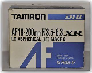 OBJETIVO TAMRON 18-200 F/3.5-6.3 XR-