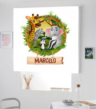 Estor Infantil Digital DE Animales de la Selva REF