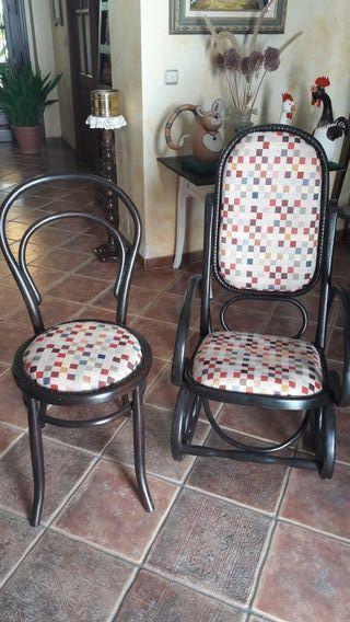 juego de mecedora con silla