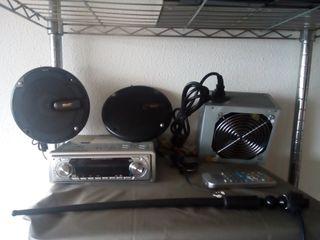 radio coche con usb y lector cd