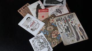9 Pegatinas/stickers vintage