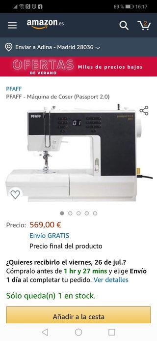 Máquina de coser Pfaff Passport 2.0