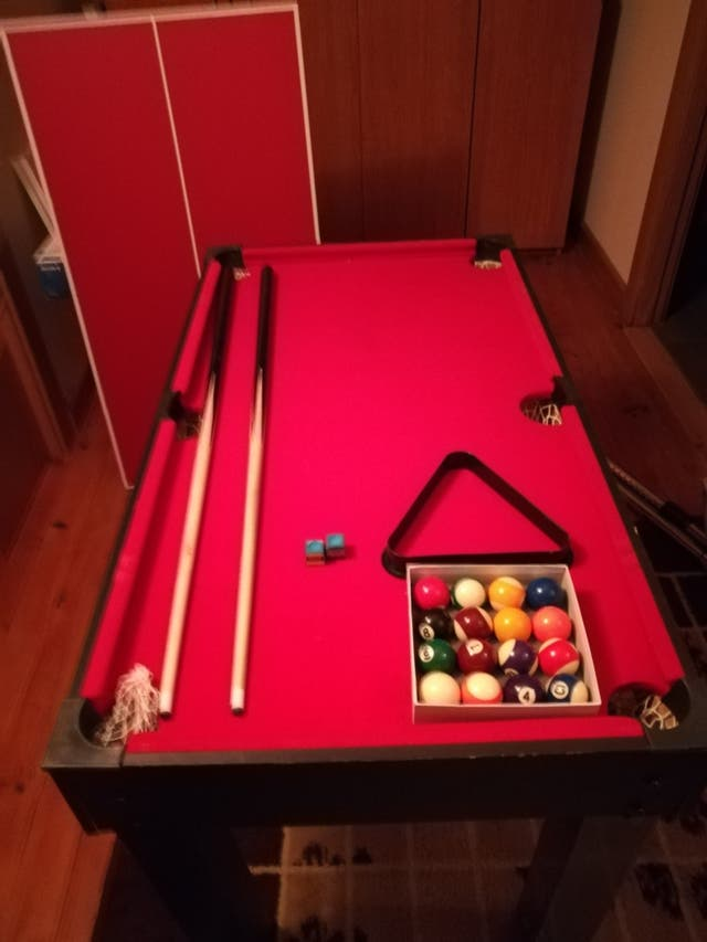 Billar y ping-pong infantil