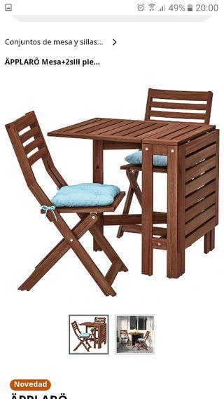 Mesa y sillas para terraza/jardin