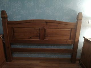 Cabecero de madera rústico de madera maciza