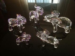 Elefantes de cristal