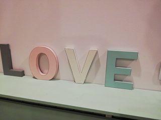 letras madera love