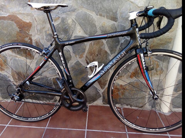 bicicleta carbono cuadro Italiano Minali