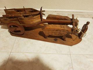 carro con vous echo amaño de madera