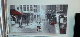 Streets Art picture big Canvas 120 x 60cm