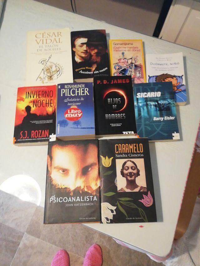 lote de 10 libros