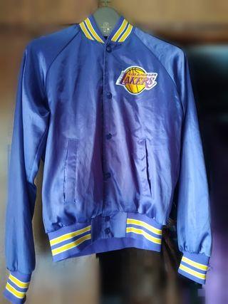 Chaqueta Bomber original de Los Ángeles Lakers.