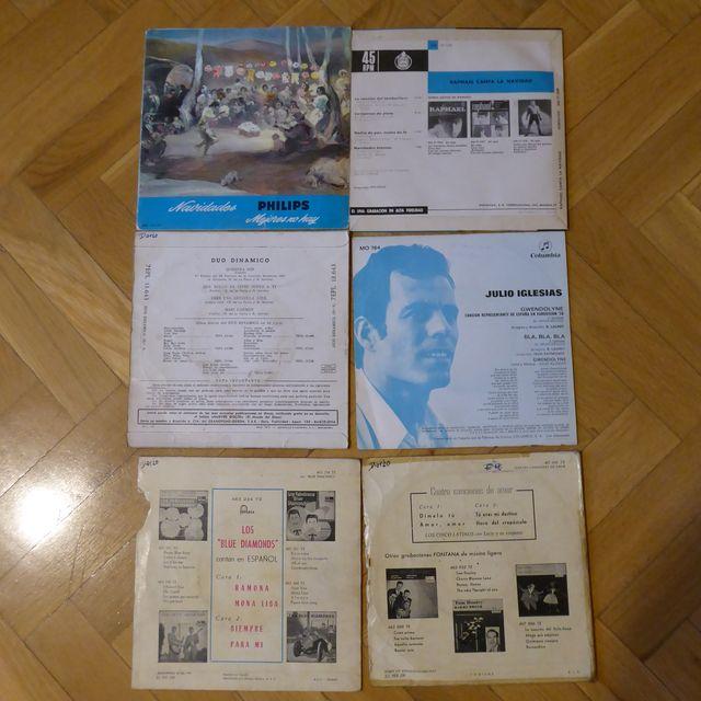Discos Single antiguos de vinilo