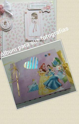 Album scrabook para sus fotografías