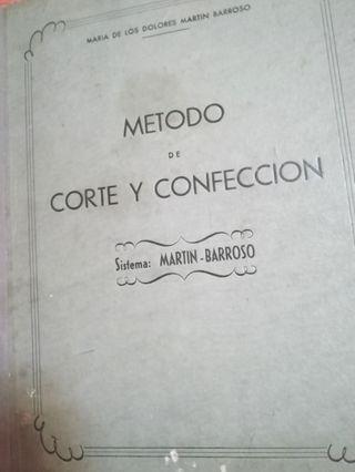 libro corte y confección sistema Martin-Barroso