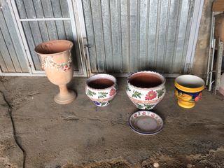 Maceteros cerámica pintados