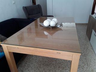 Mesa comedor extensible roble