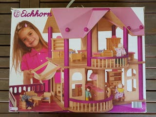 casa de muñecas de madera Eichhorn