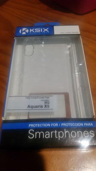 FUNDA BQ AQUARIS X5,transparente