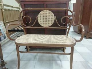 sillón de madera d rejilla