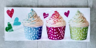 Cuadro lienzo cupcakes