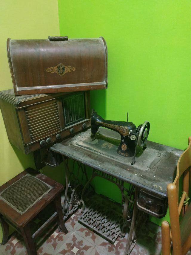 màquina de cosir antiga SINGER