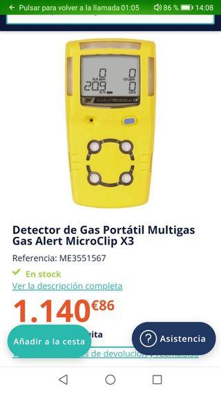 detector de cuatro gases