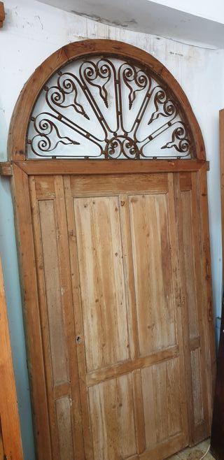 Puerta de hall de pino del siglo de XVIII