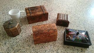 5 Cajas caja cajita de madera