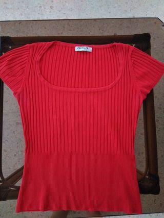 suéter rojo elástico TS/ TM
